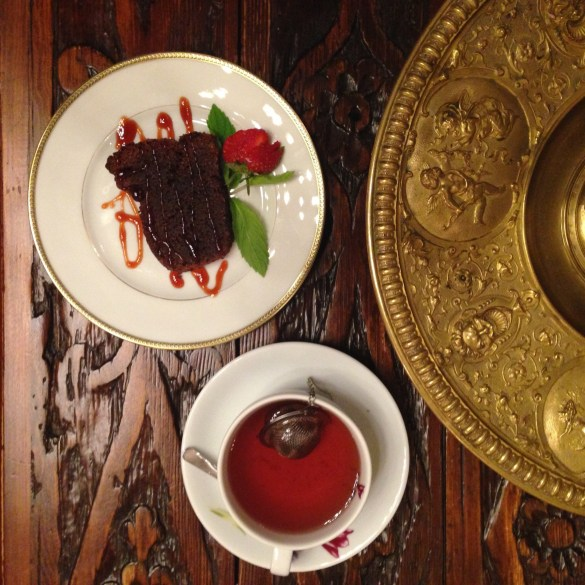 Tea and cake at the Sacred House