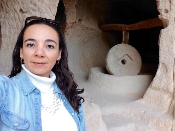 stone mill at Zelve open air museum in Cappadocia