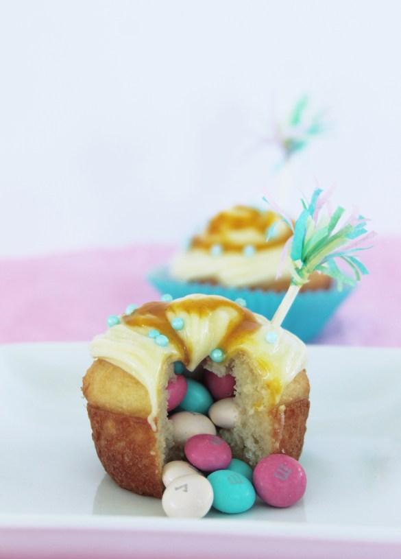 passion fruit piñata Easter cupcakes