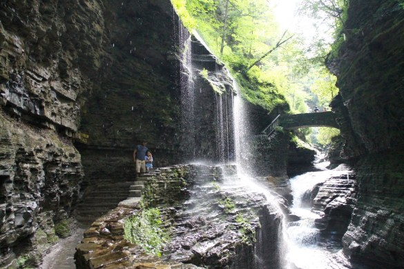 hiking with the kids at Watkins Glen State Park