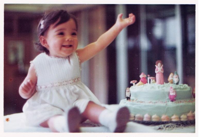 Celebrating my first birthday.