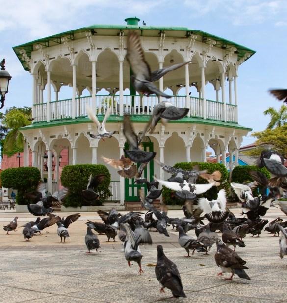Parque Central with Victorian architecture in Puerto Plata Dominican Republic
