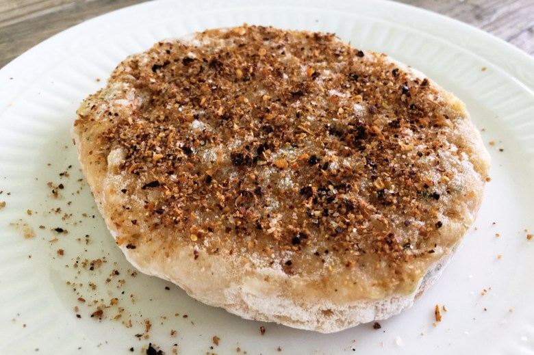 Wild Alaskan Pollock Burger crusted with chili and spices