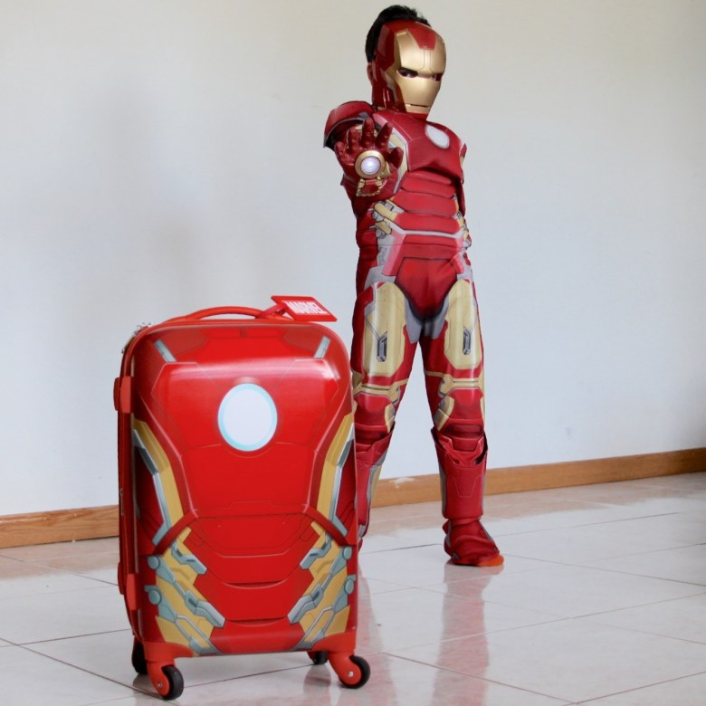 Iron man luggage from American Tourister