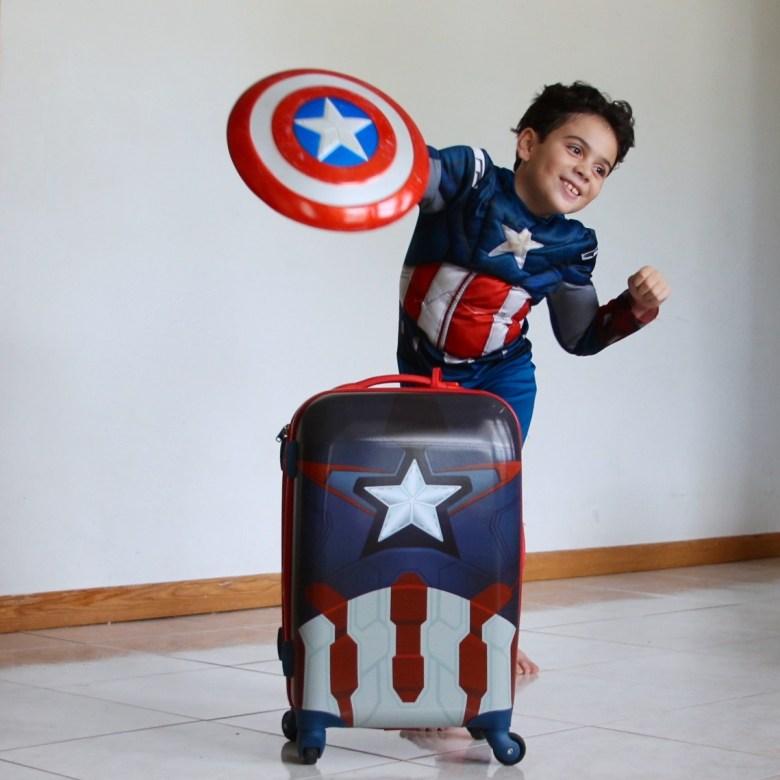 American Tourister captain America luggage