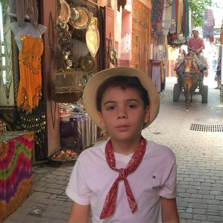 boy in the Marrakech Medina