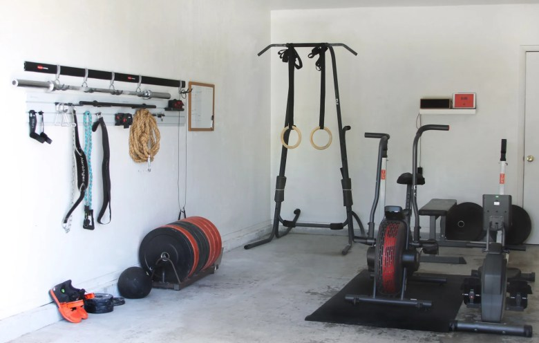Tips for turning your garage into a gym with the Rubbermaid® FastTrack® Garage Organization System