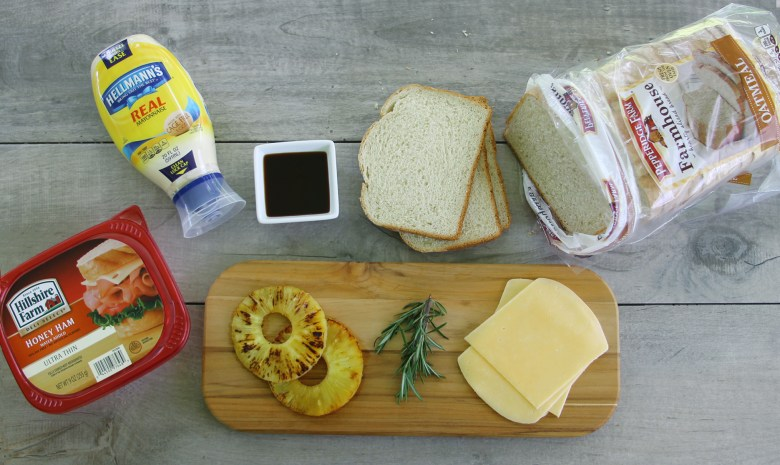 Aloha Grilled Ham And Cheese Sandwich ingredients