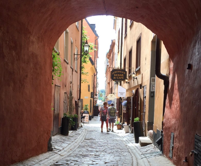 cobble stone streets in Gamla Stan