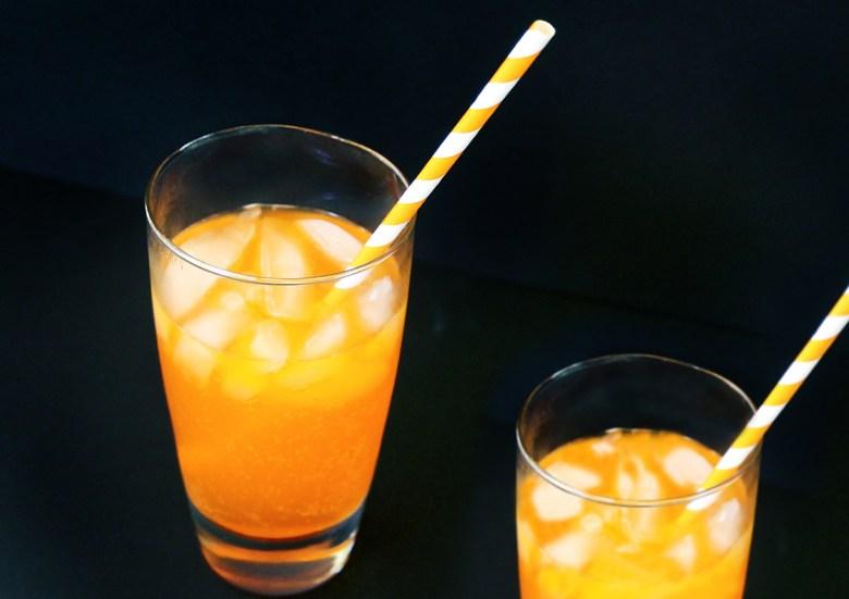 fanta on a glass
