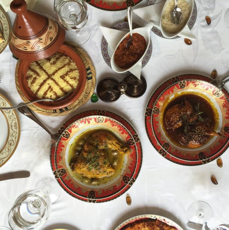 Moroccan food at Dar Ayniwen