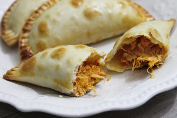 Crockpot Cheesy Chicken Tinga Empanadas