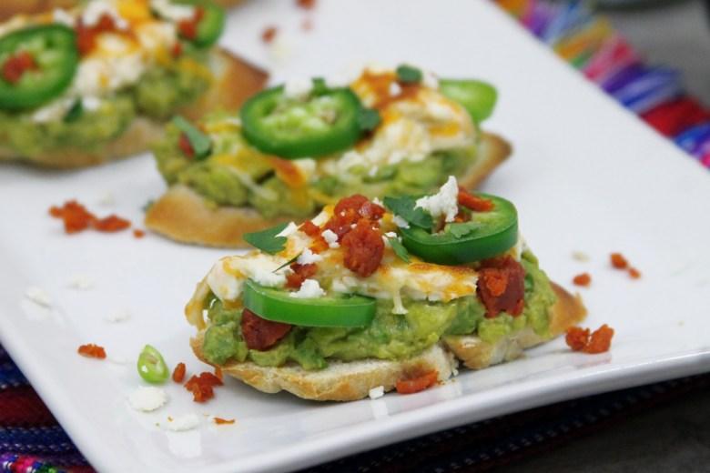 Jalapeño Popper Avocado Toast Bites