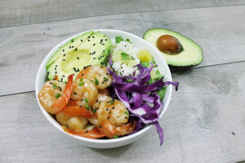 Orange Chipotle Shrimp Rice Bowl