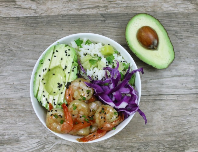 Orange Chipotle Shrimp And Rice Bowl