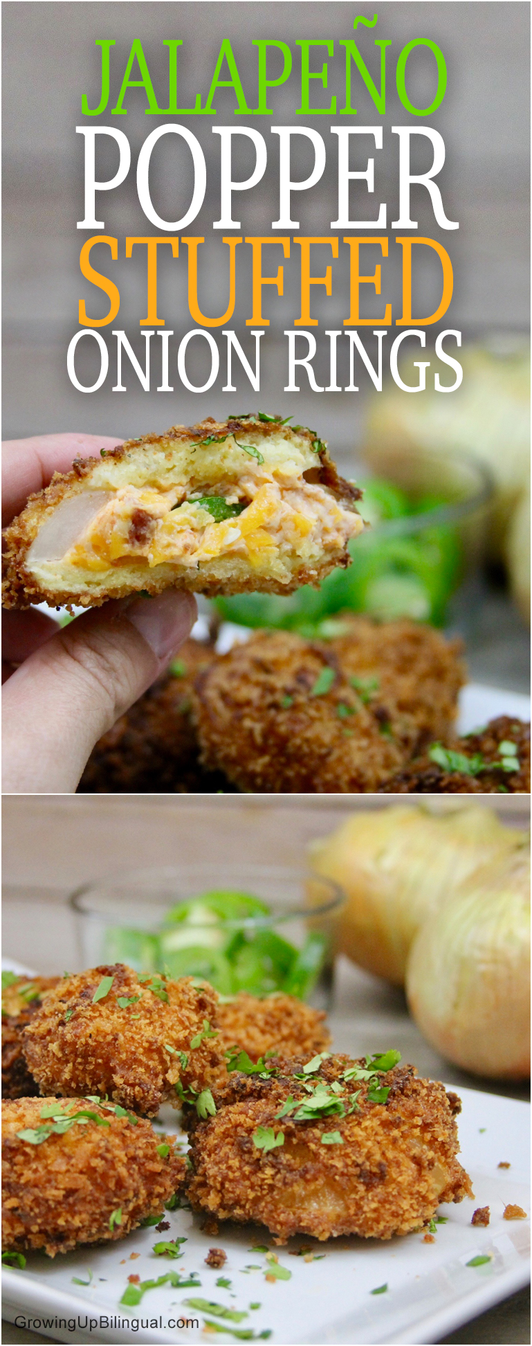 Jalapeño Popper Stuffed Onion Rings