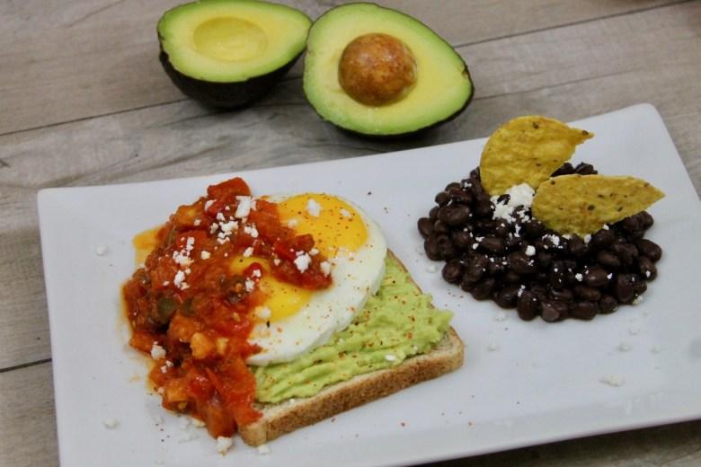 Huevos Rancheros avocado toast