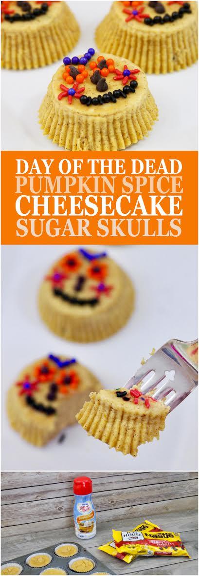 Day of the Dead Pumpkin Spice Cheesecake Sugar Skulls Recipe