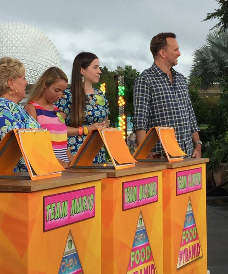 The Chew at Epcot playing Food Pyramid
