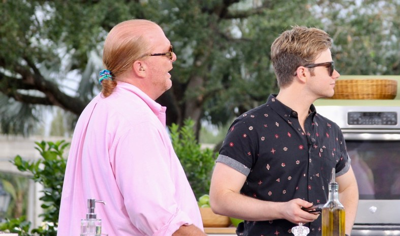 The Chew at Epcot with actor Chris Colfer