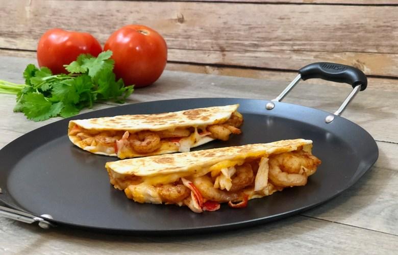 Cheesy Chipotle Seafood Quesadillas