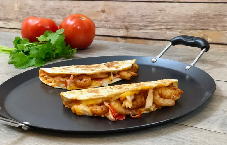 Cheesy Chipotle Seafood Quesadillas