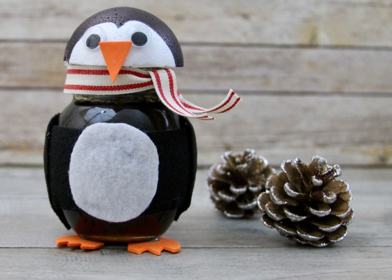 DIY honey jar penguin with Don Victor honey