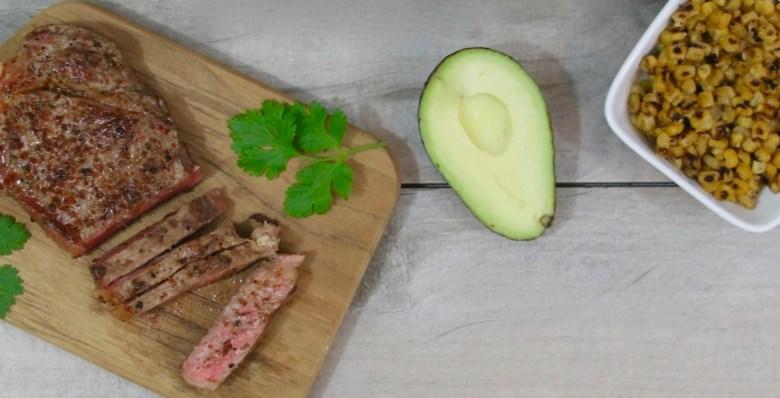 Chipotle steak taco salad