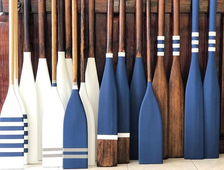 oars coastal decor inspiration