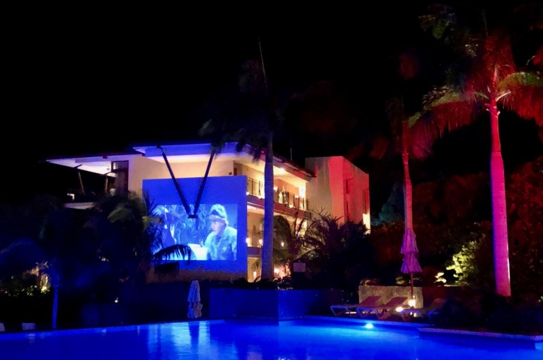 Movie night at Dreams Las Mareas Costa Rica