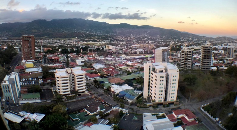 Stunning view of the city for the Hilton Garden Inn San José La Sabana