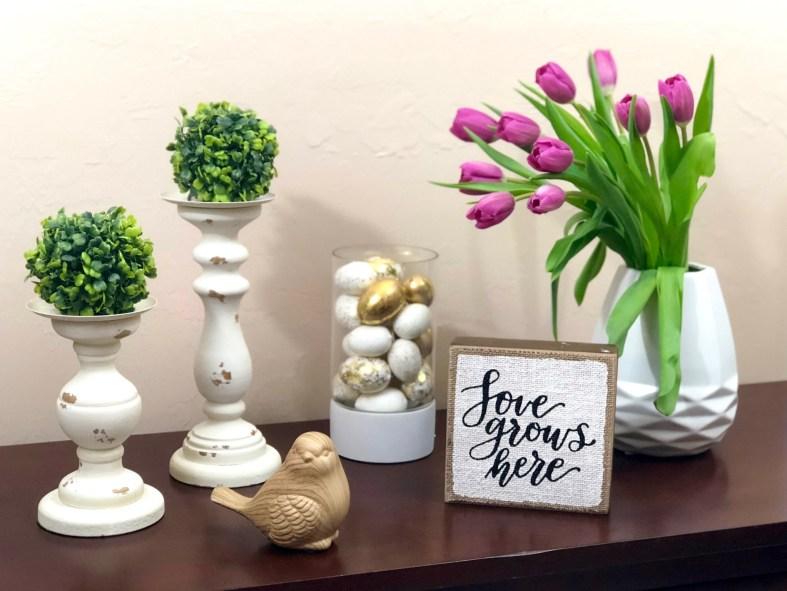spring decor tulips