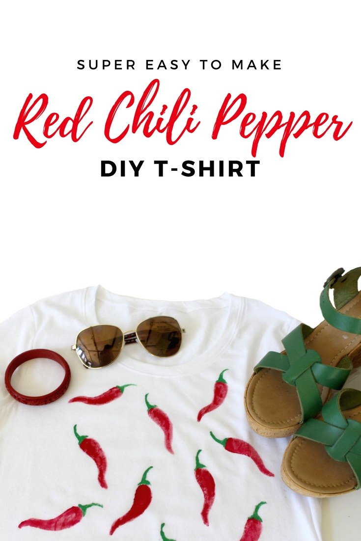 easy to make red chili pepper DIY t-shirt