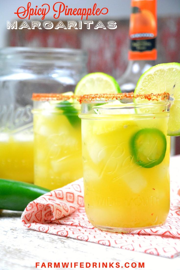 Spicy Pineapple Margaritas