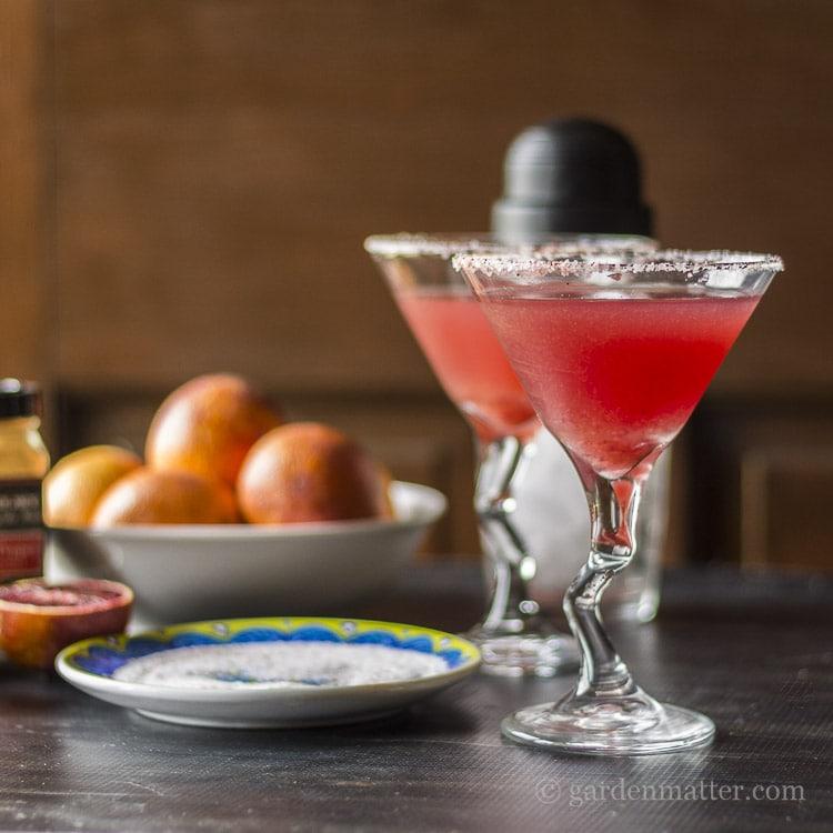 Sweet and Spicy Blood Orange Margarita