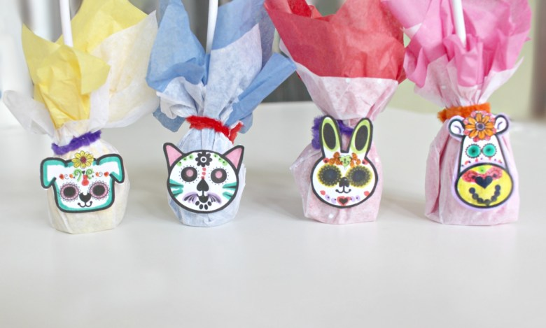 Day of the Dead Inspired Animal Sugar Skull Lollipops