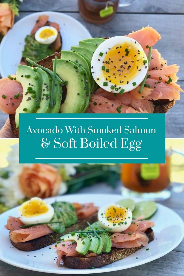 Avocado With Smoked Salmon & Soft Boiled Egg