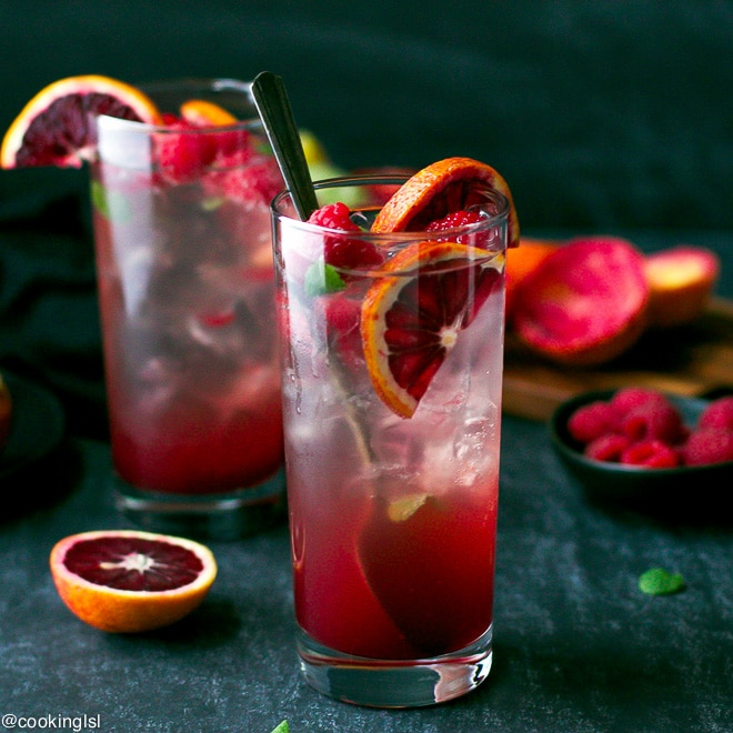 Blood Orange and Raspberry Mojito plus 10 Fantastic Cocktails for Your Day of the Dead Celebration