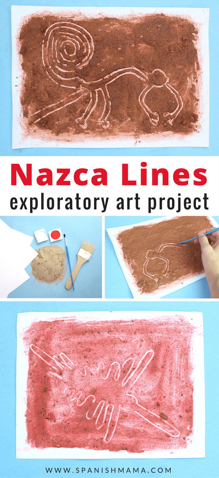 Nazca Lines Peru craft for kids and other Latin American crafts to celebrate Hispanic Heritage Month