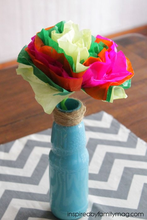 Tissue Paper Flowers craft for kids and other Latin American crafts to celebrate Hispanic Heritage Month