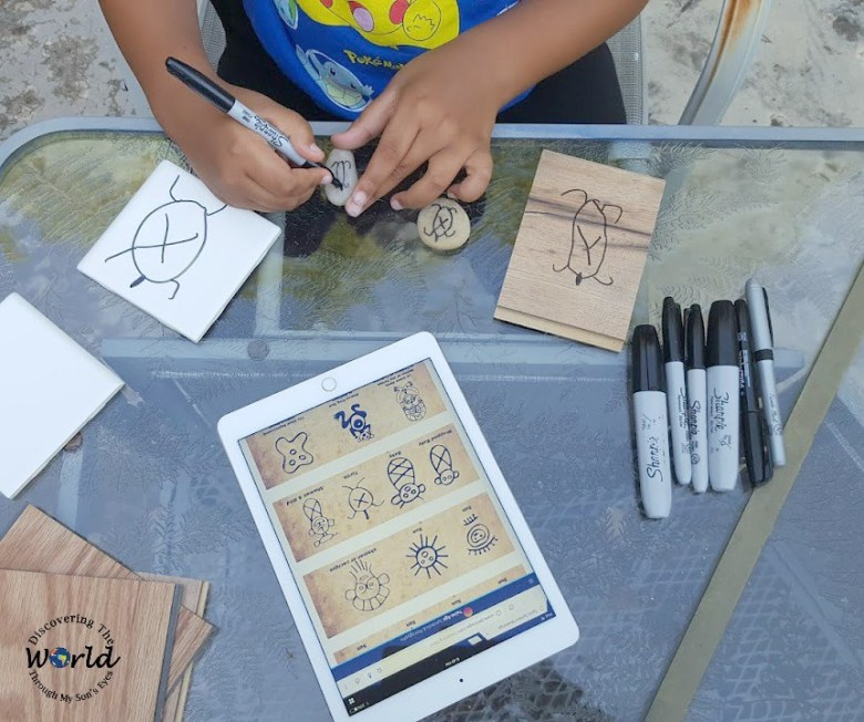 Taino Petroglyphs: Rock Art For Kids and other Latin American crafts to celebrate Hispanic Heritage Month
