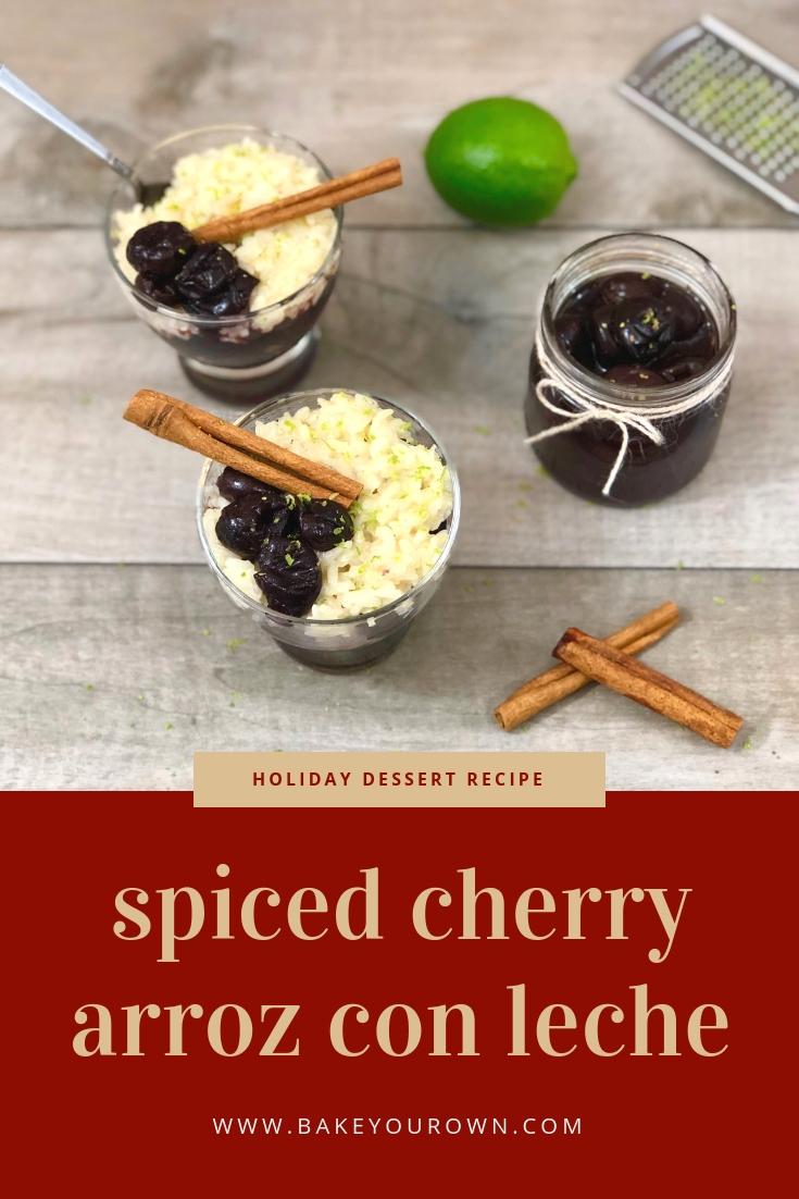 spiced cherry arroz con leche
