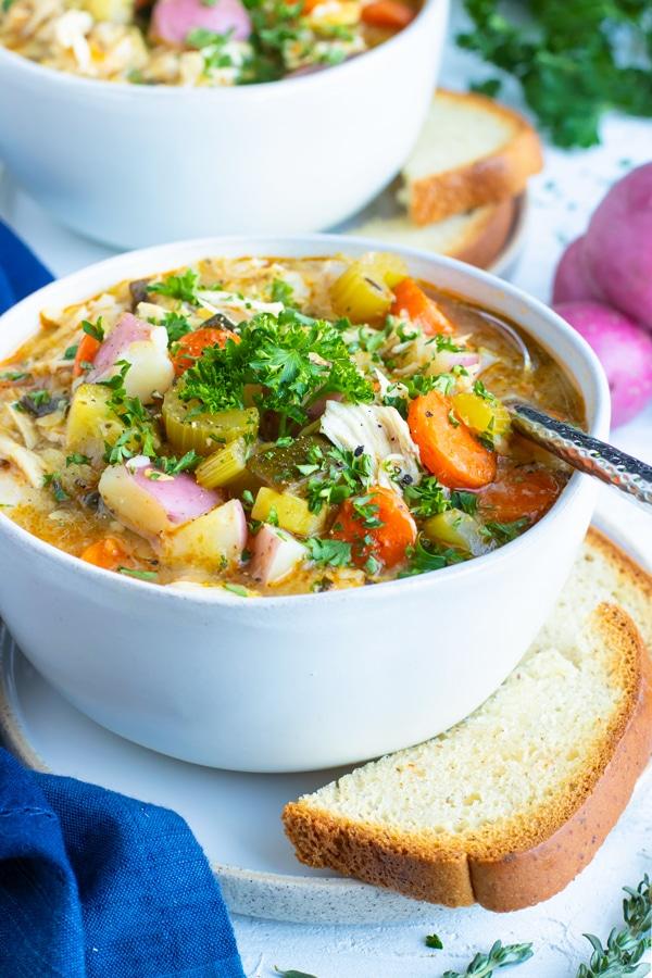 Instant Pot Chicken Vegetable Soup