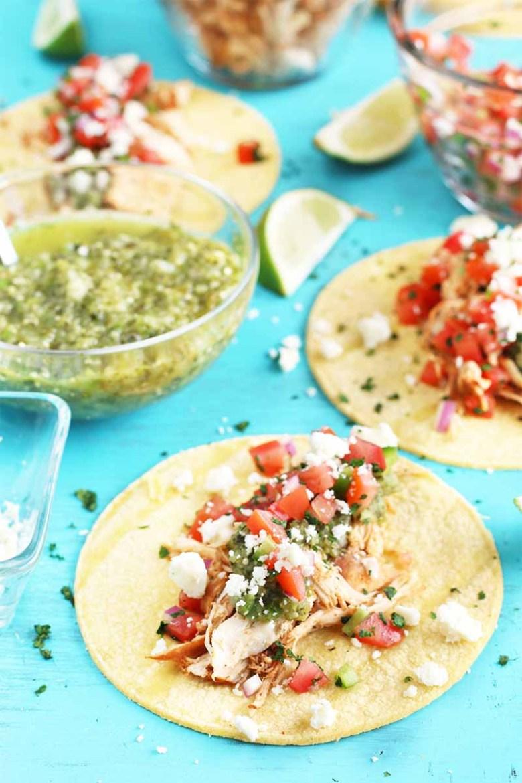 Shredded Chicken Tacos with Homemade Salsa Verde