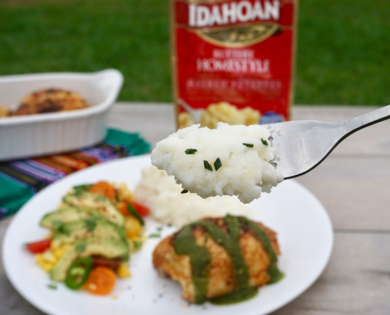 Easy Dinner With Idahoan Mashed Potatoes
