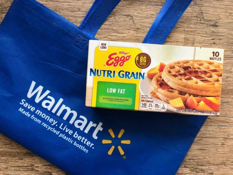 Eggo Nutri Grain low fat waffles at Walmart