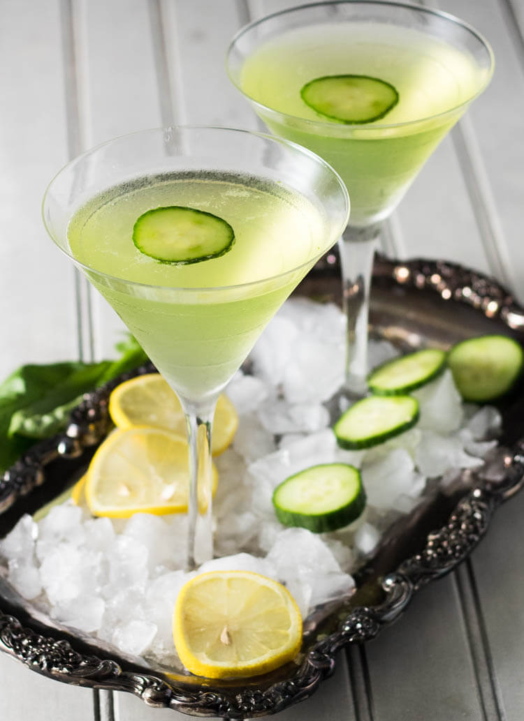 Lemon Cucumber Martini and other delicious spring cocktail recipes