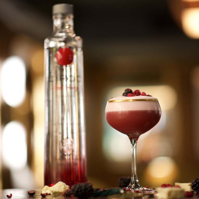 Red Berries and Vodka Cocktail Recipe