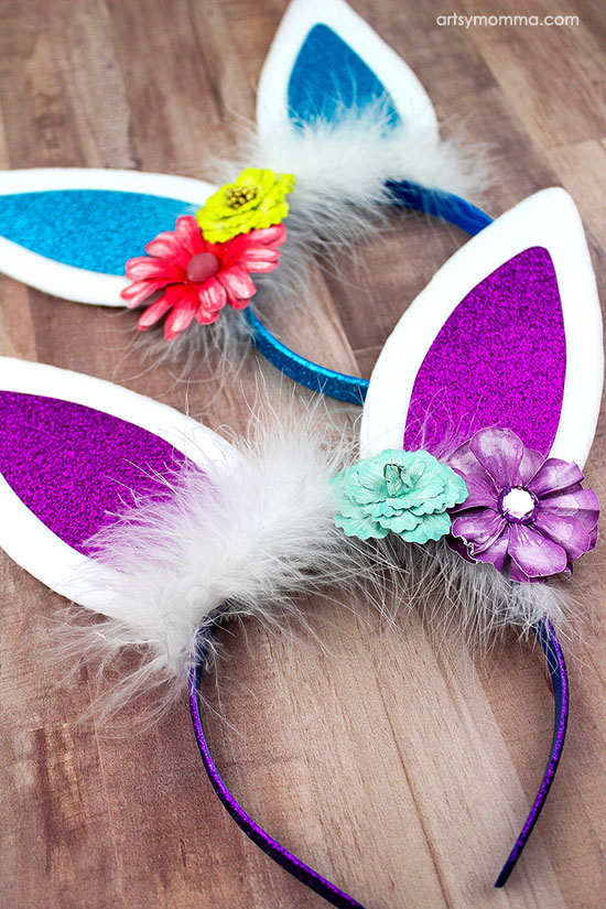 Bunny Ears Easter Headband and other fun and easy Easter crafts for kids