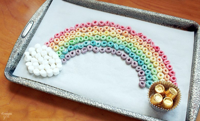 Edible Rainbow St Patrick's Day craft for kids